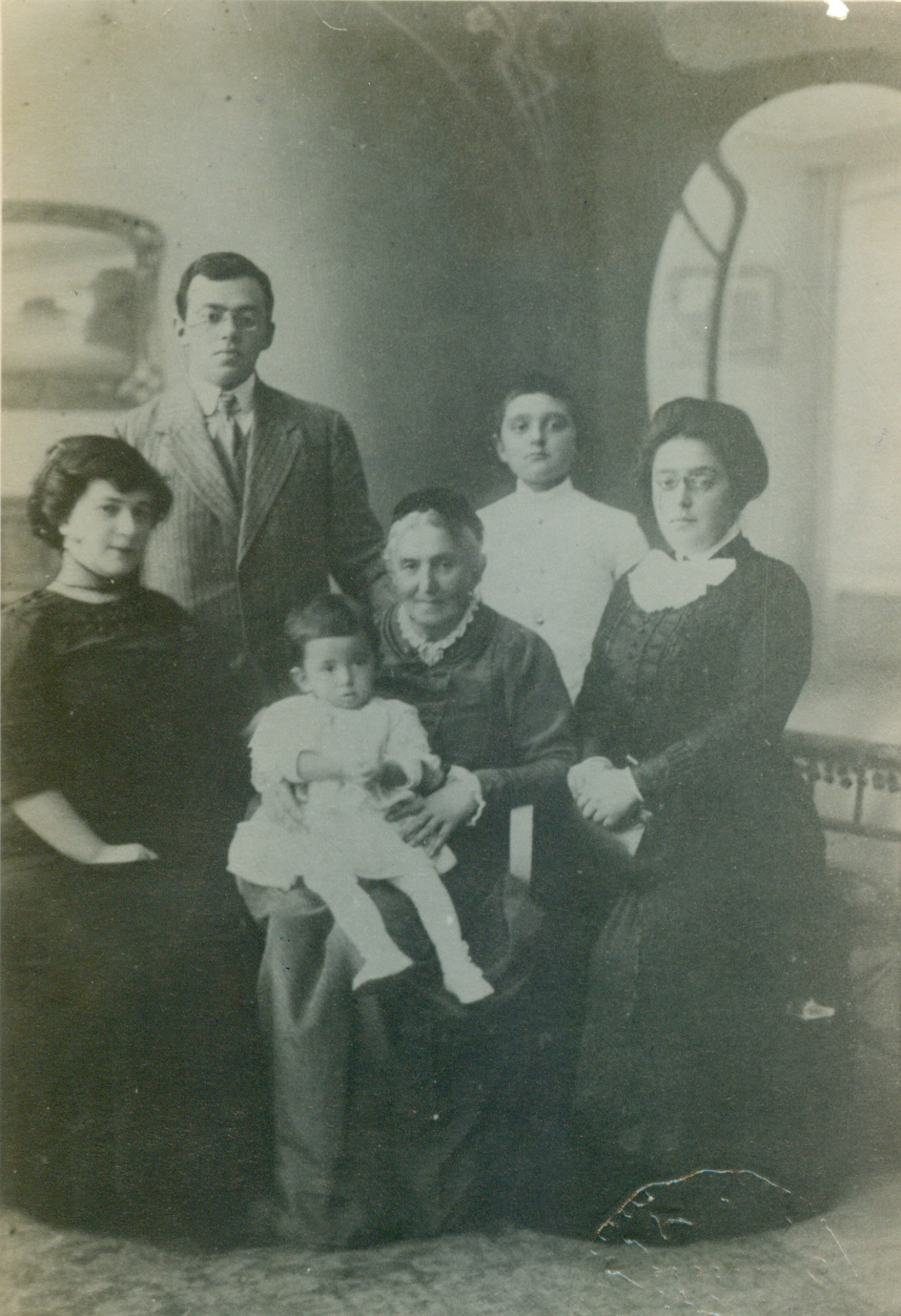 Zeev Jabotinsky, Joanna, Eri, his mother, Hava, his sister, Tamar and her son, Yonah Kopp